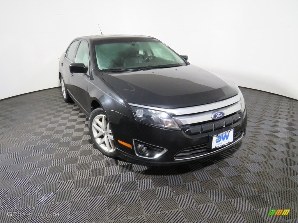 2010 Fusion SEL V6 - Tuxedo Black Metallic / Charcoal Black photo #5