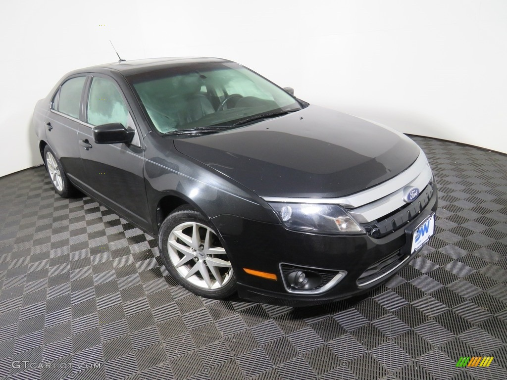2010 Fusion SEL V6 - Tuxedo Black Metallic / Charcoal Black photo #6