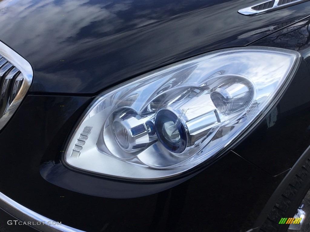 2010 Enclave CXL AWD - Carbon Black Metallic / Ebony/Ebony photo #28