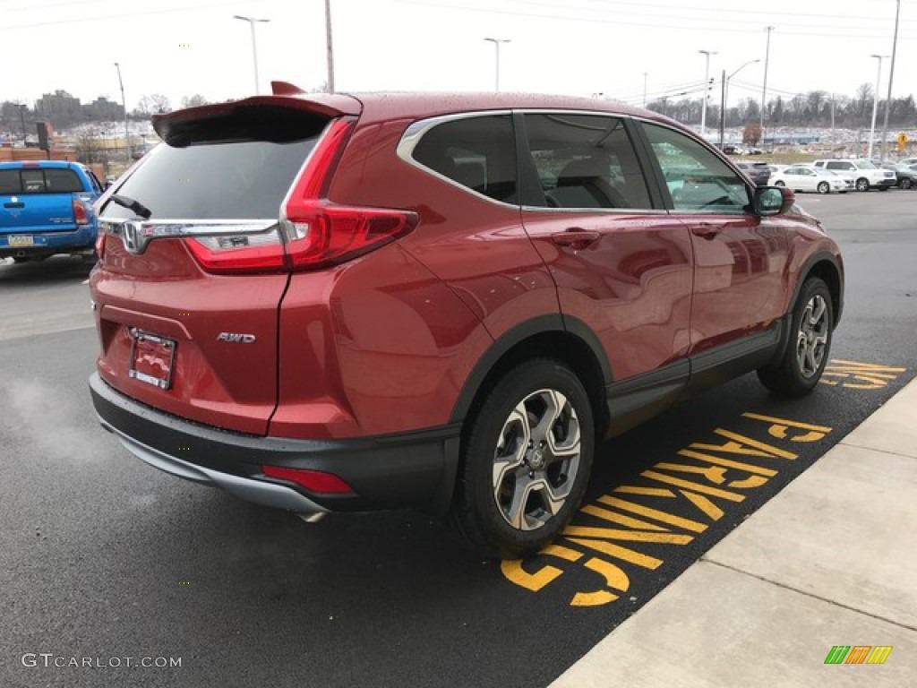2019 CR-V EX AWD - Molten Lava Pearl / Ivory photo #6