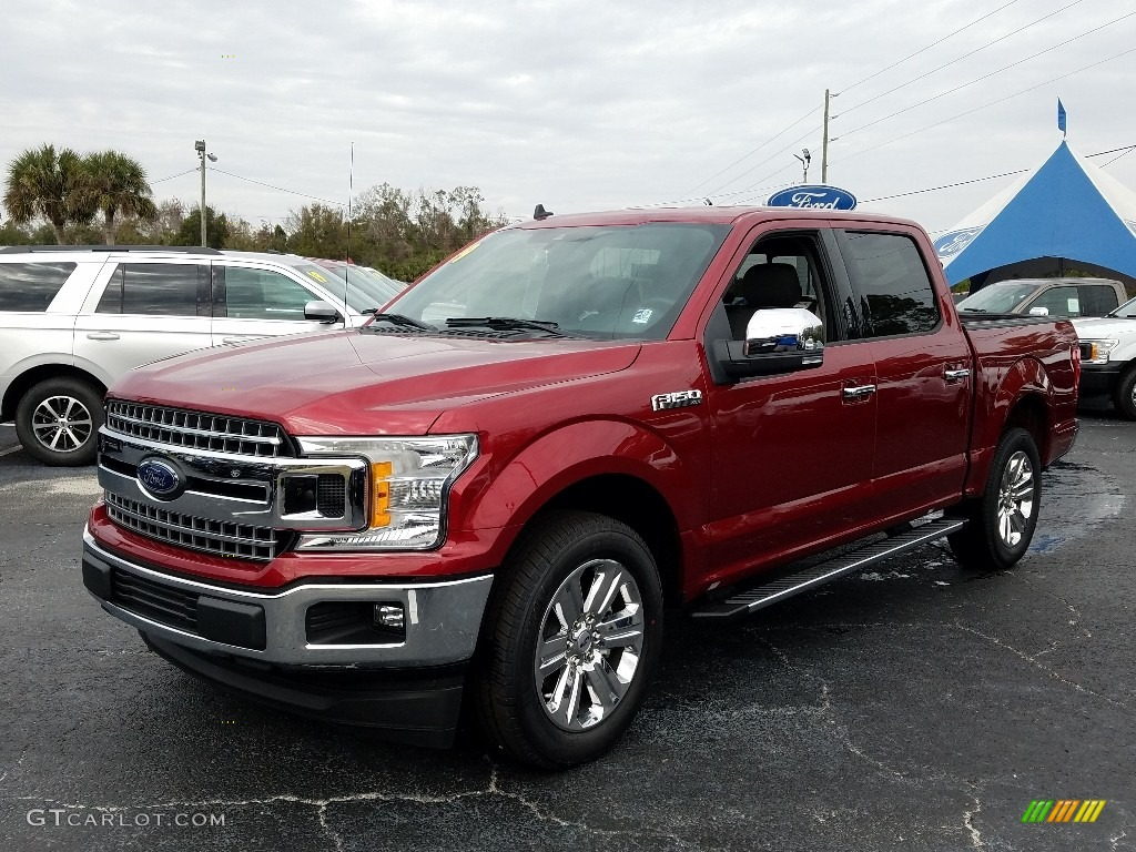 2019 F150 XLT SuperCrew - Ruby Red / Earth Gray photo #1