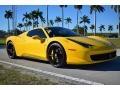 Giallo Modena (Yellow) 2013 Ferrari 458 Spider