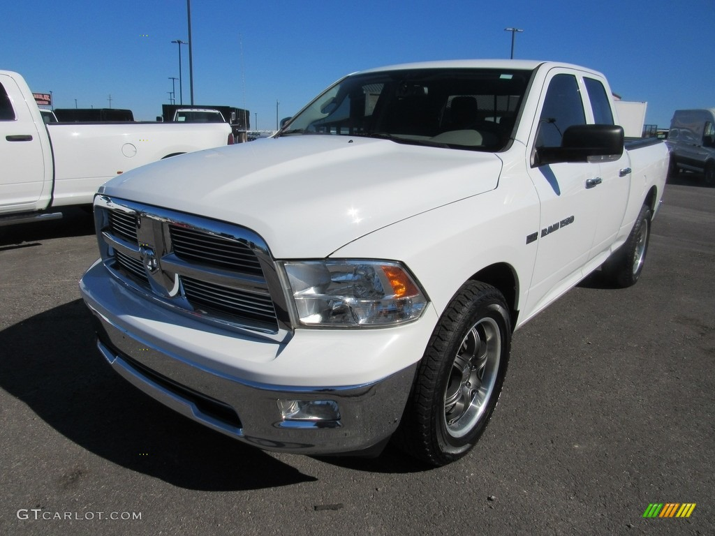 2011 Ram 1500 SLT Quad Cab 4x4 - Bright White / Dark Slate Gray/Medium Graystone photo #1