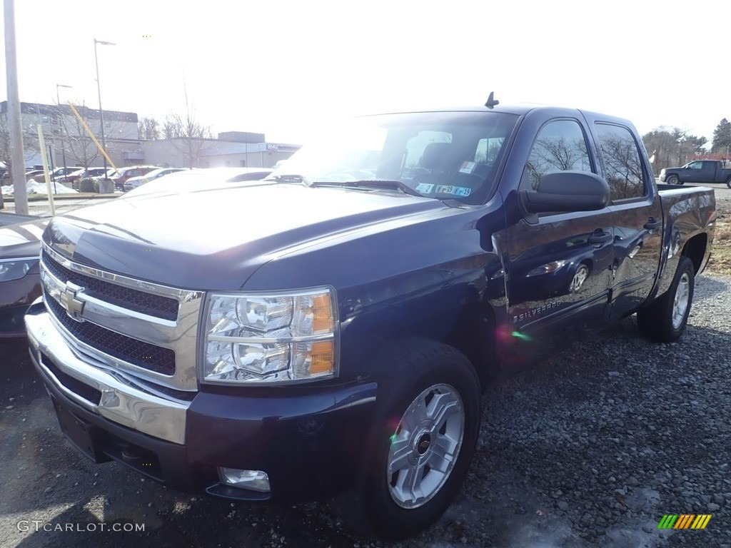 2009 Silverado 1500 LT Crew Cab 4x4 - Imperial Blue Metallic / Ebony photo #1