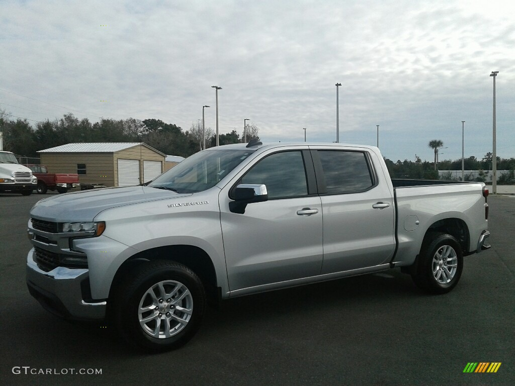 2019 Silverado 1500 LT Crew Cab - Silver Ice Metallic / Jet Black photo #1
