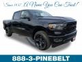 Diamond Black Crystal Pearl 2019 Ram 1500 Big Horn Black Crew Cab 4x4