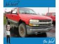 2000 Victory Red Chevrolet Silverado 1500 LS Extended Cab 4x4  photo #1