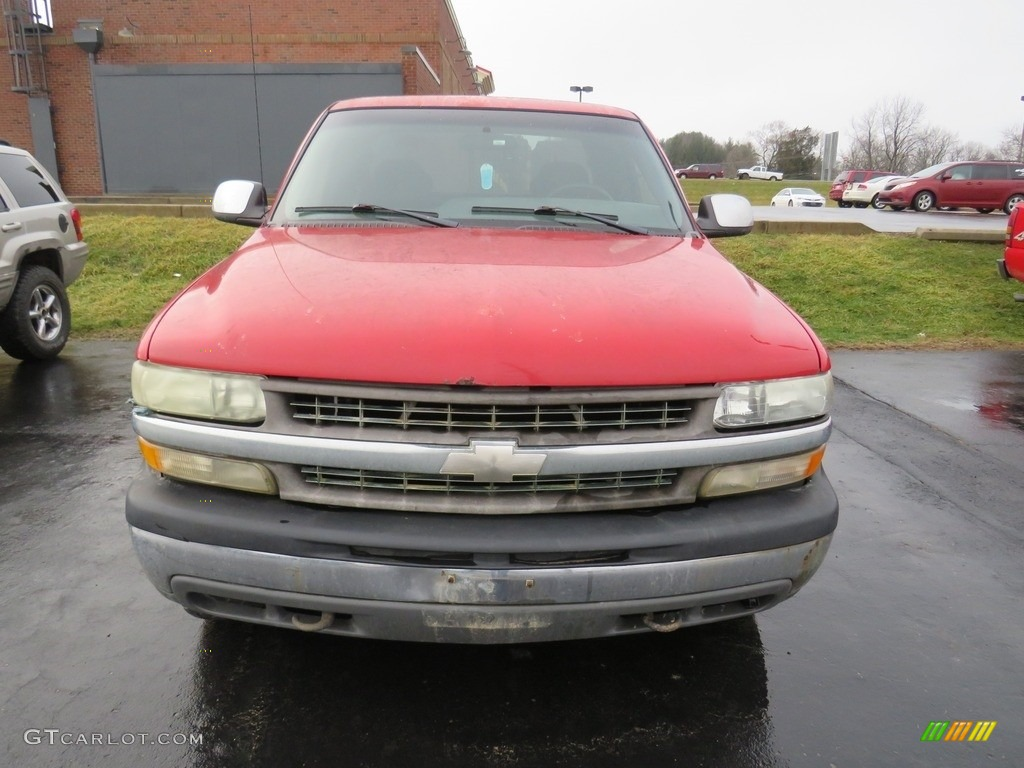 2000 Silverado 1500 LS Extended Cab 4x4 - Victory Red / Graphite photo #5