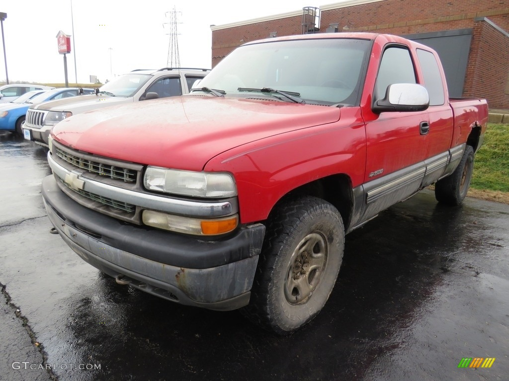 2000 Silverado 1500 LS Extended Cab 4x4 - Victory Red / Graphite photo #6