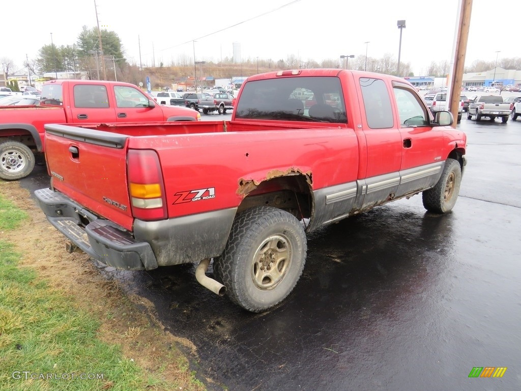 2000 Silverado 1500 LS Extended Cab 4x4 - Victory Red / Graphite photo #14