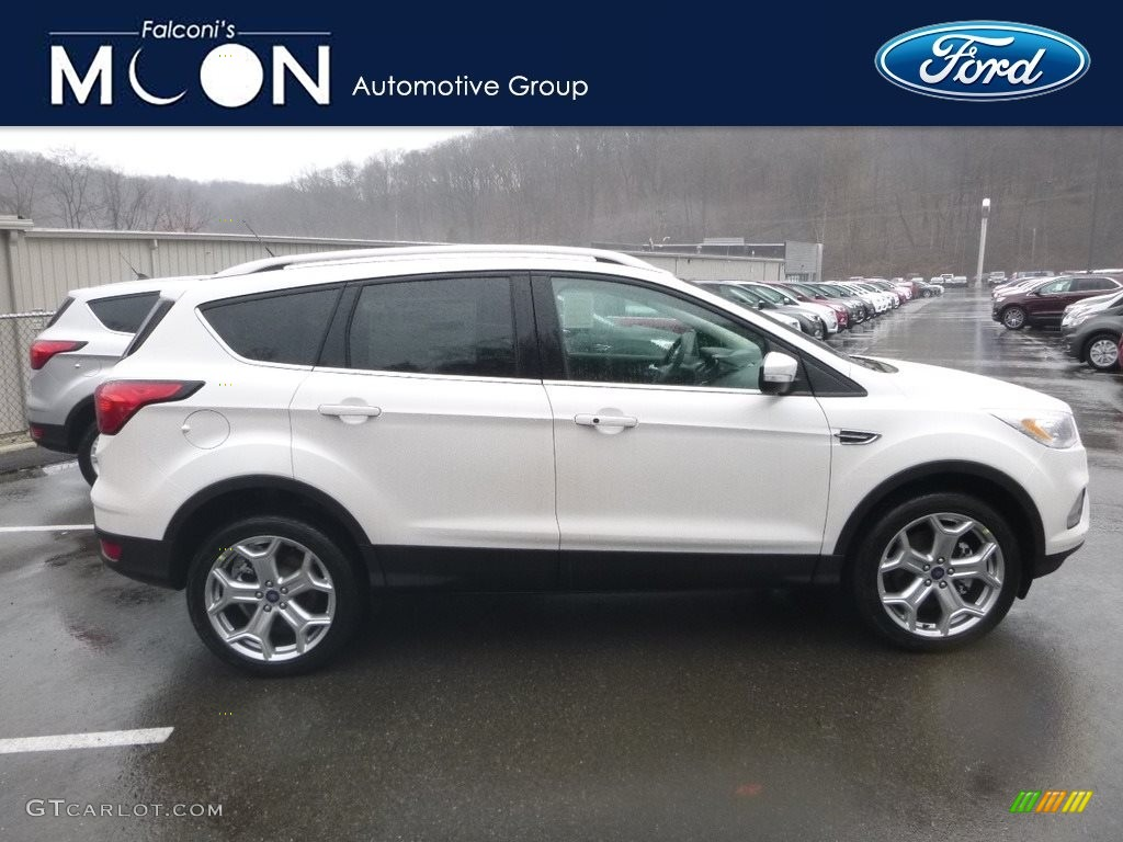 2019 Escape Titanium 4WD - White Platinum / Chromite Gray/Charcoal Black photo #1