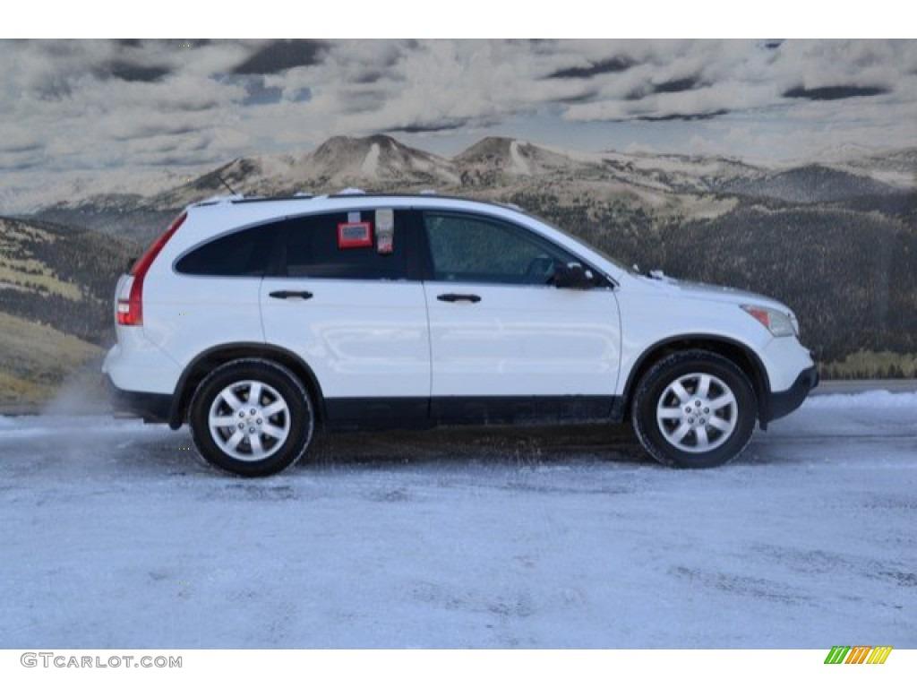 2009 CR-V EX 4WD - Taffeta White / Gray photo #2