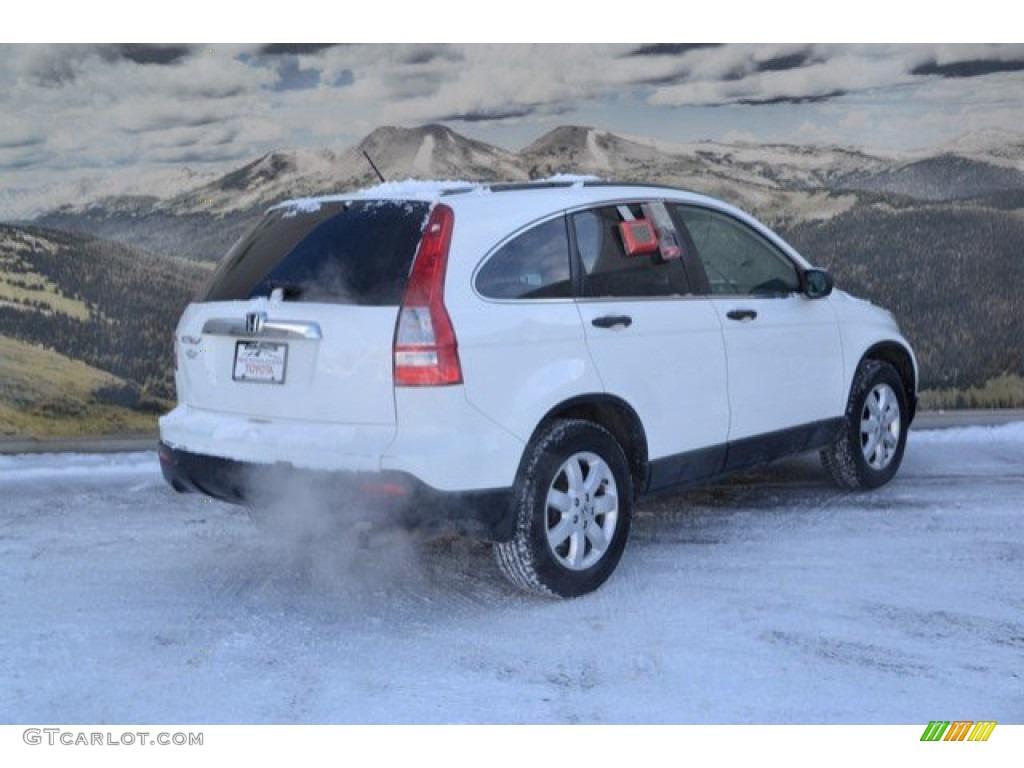 2009 CR-V EX 4WD - Taffeta White / Gray photo #3