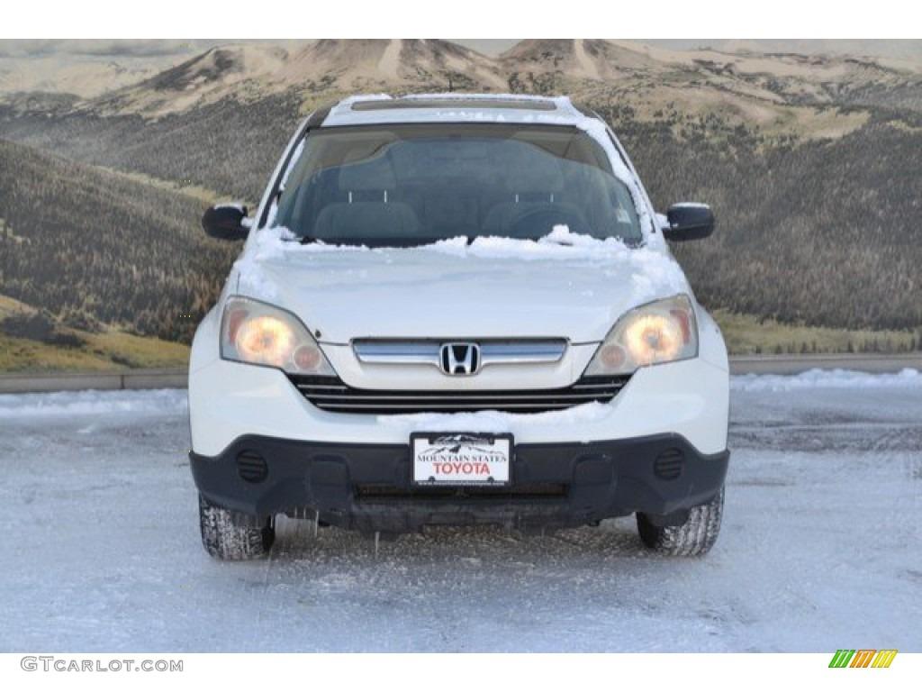 2009 CR-V EX 4WD - Taffeta White / Gray photo #4