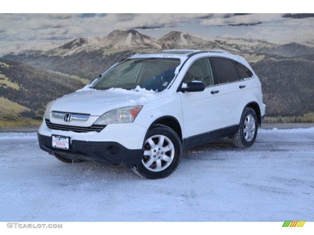 2009 CR-V EX 4WD - Taffeta White / Gray photo #5