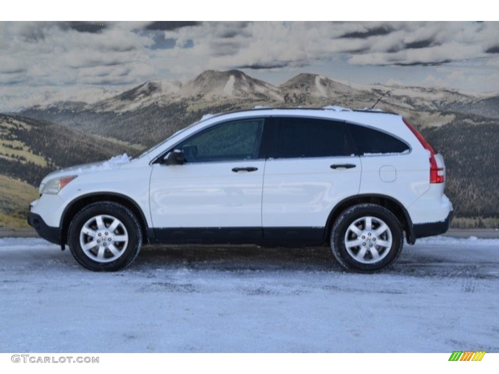 2009 CR-V EX 4WD - Taffeta White / Gray photo #6