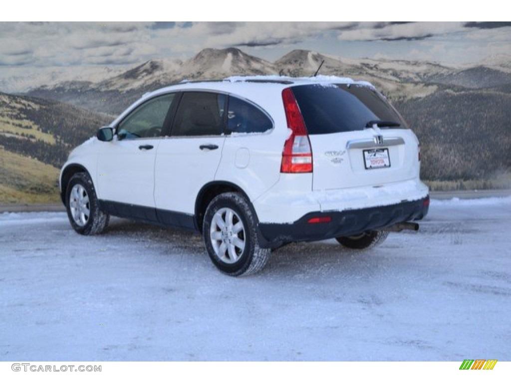 2009 CR-V EX 4WD - Taffeta White / Gray photo #7