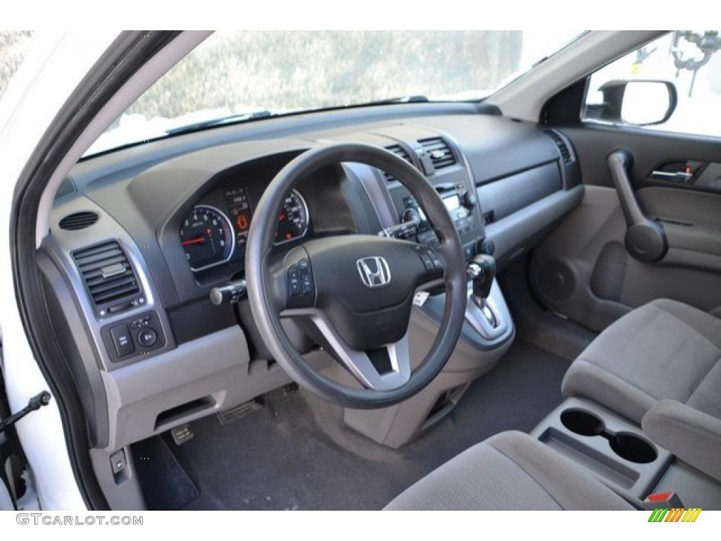 2009 CR-V EX 4WD - Taffeta White / Gray photo #9