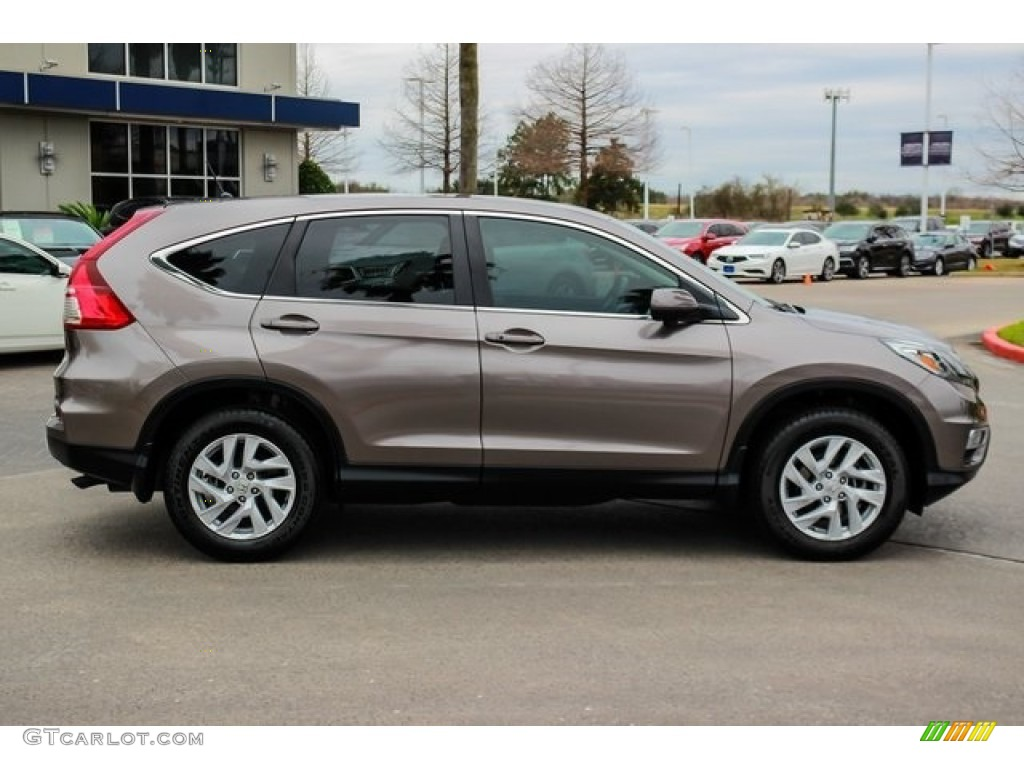 2016 CR-V EX - Kona Coffee Metallic / Black photo #8