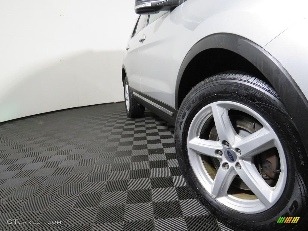 2016 Explorer XLT 4WD - Ingot Silver Metallic / Ebony Black photo #11