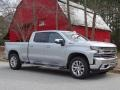 2019 Silver Ice Metallic Chevrolet Silverado 1500 LTZ Crew Cab 4WD  photo #1