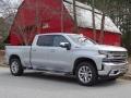 2019 Silver Ice Metallic Chevrolet Silverado 1500 LTZ Crew Cab 4WD #131886770