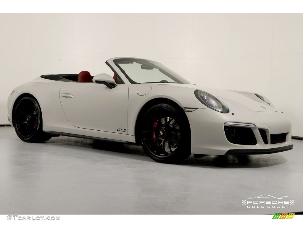 2018 911 4 GTS Coupe - White / Black/Bordeaux Red photo #1