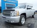 2012 Silver Ice Metallic Chevrolet Silverado 1500 LT Extended Cab 4x4  photo #2