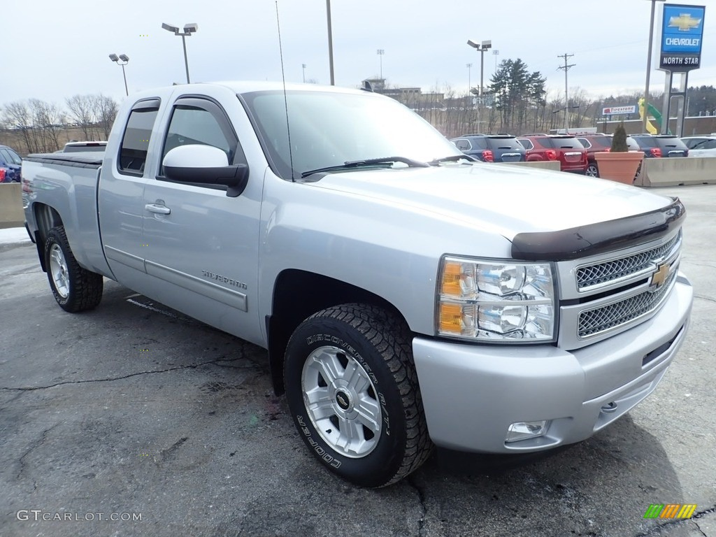 2012 Silverado 1500 LT Extended Cab 4x4 - Silver Ice Metallic / Ebony photo #10