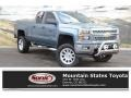 2014 Blue Granite Metallic Chevrolet Silverado 1500 LT Double Cab 4x4 #131924316