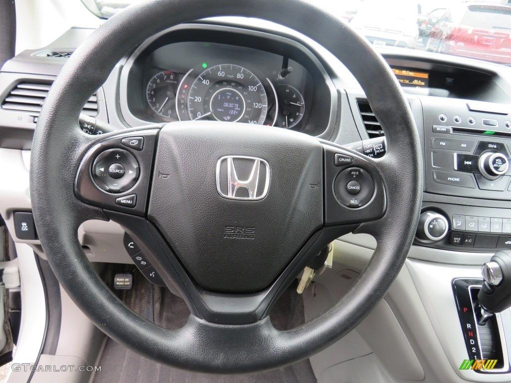 2012 CR-V LX 4WD - Taffeta White / Gray photo #7