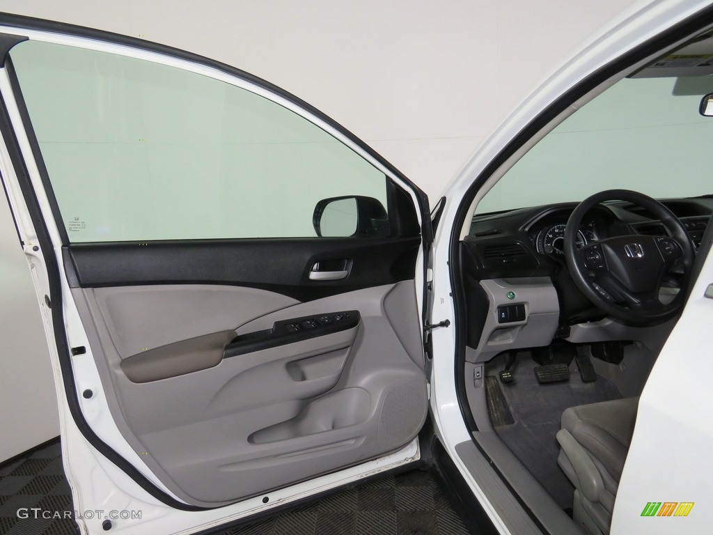 2012 CR-V LX 4WD - Taffeta White / Gray photo #13
