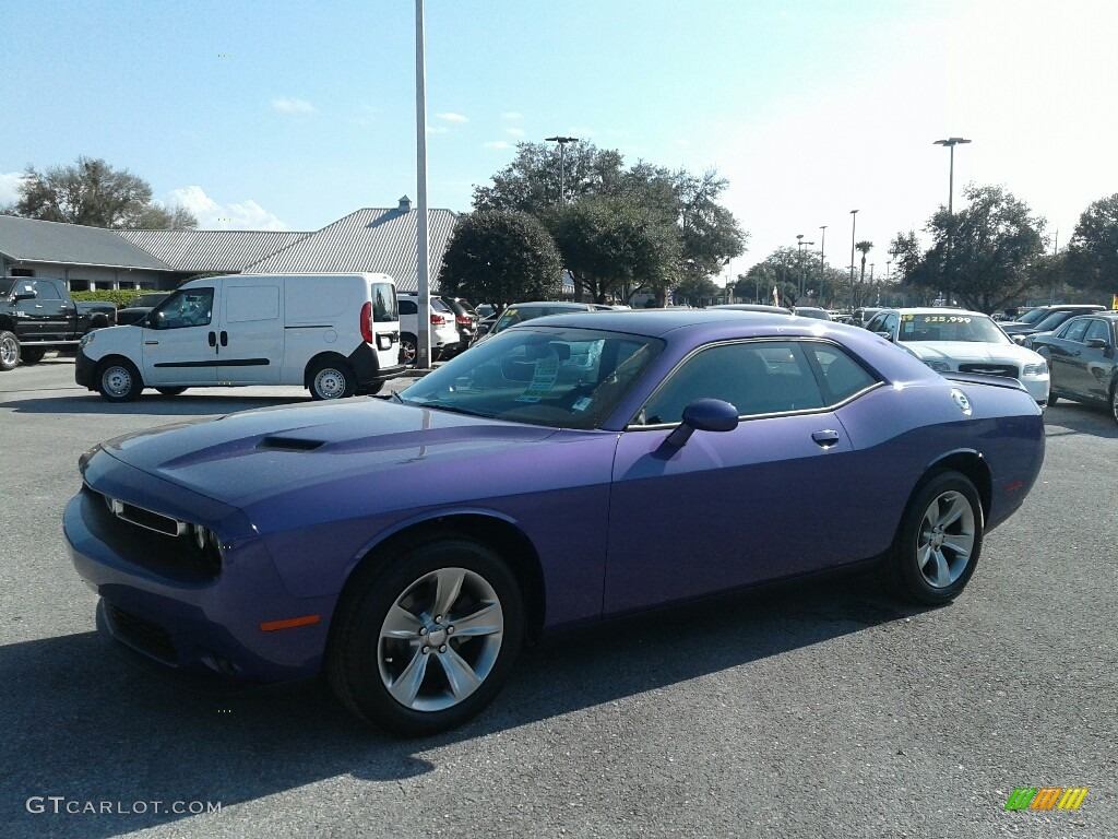2019 Challenger SXT - Plum Crazy Pearl / Black photo #1