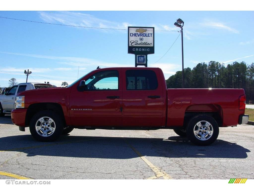 2009 Silverado 1500 LT Crew Cab - Victory Red / Dark Titanium photo #1
