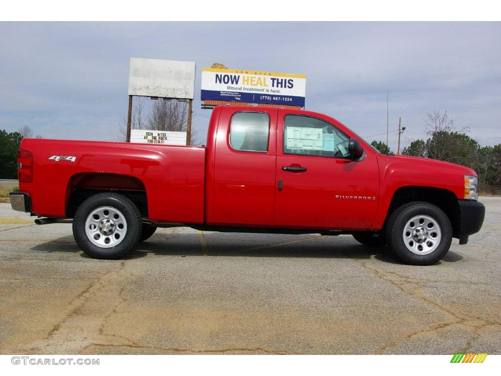 2009 Silverado 1500 Extended Cab 4x4 - Victory Red / Dark Titanium photo #5