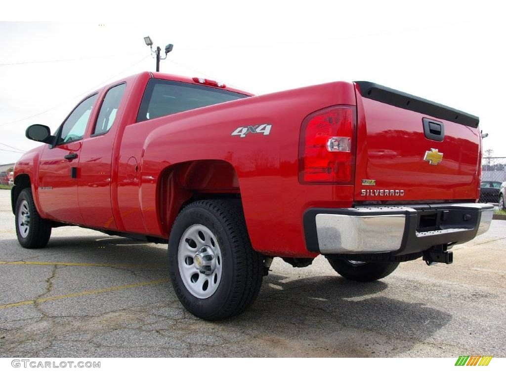 2009 Silverado 1500 Extended Cab 4x4 - Victory Red / Dark Titanium photo #8