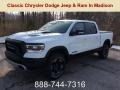 Bright White 2019 Ram 1500 Rebel Crew Cab 4x4