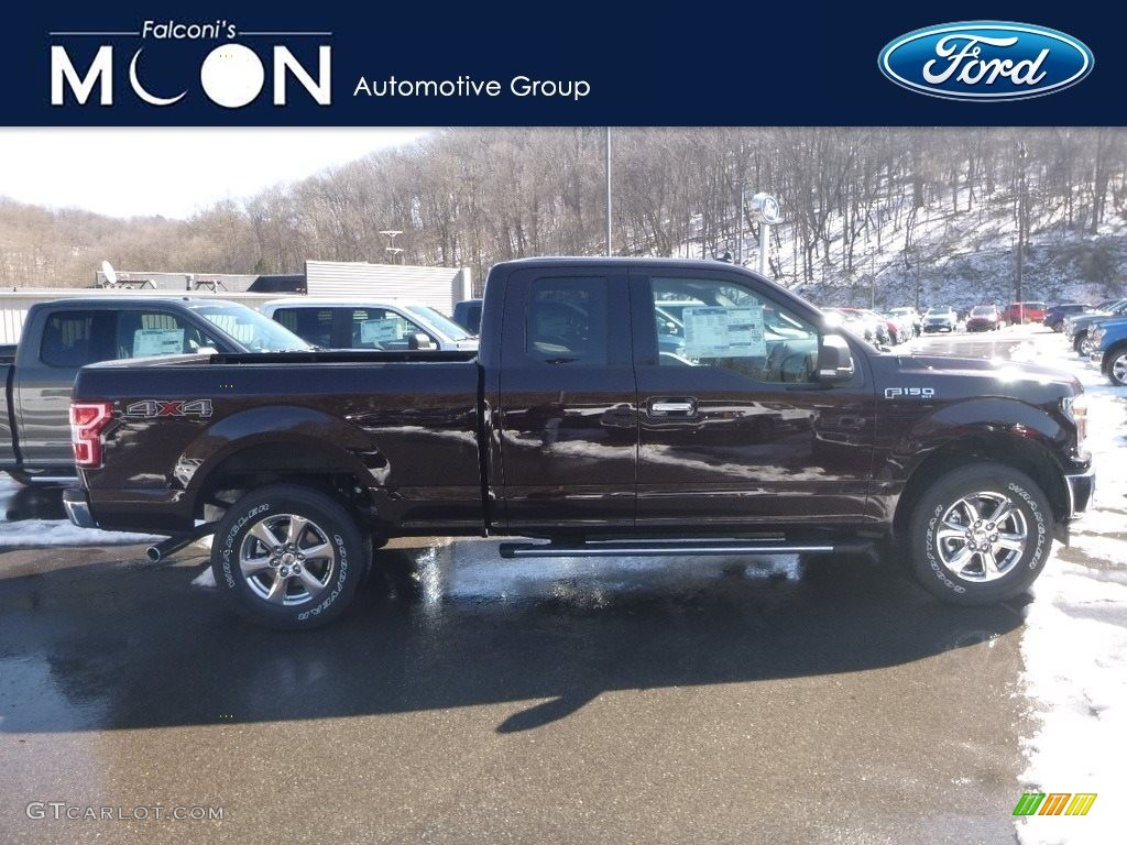 2019 F150 XLT SuperCab 4x4 - Magma Red / Earth Gray photo #1