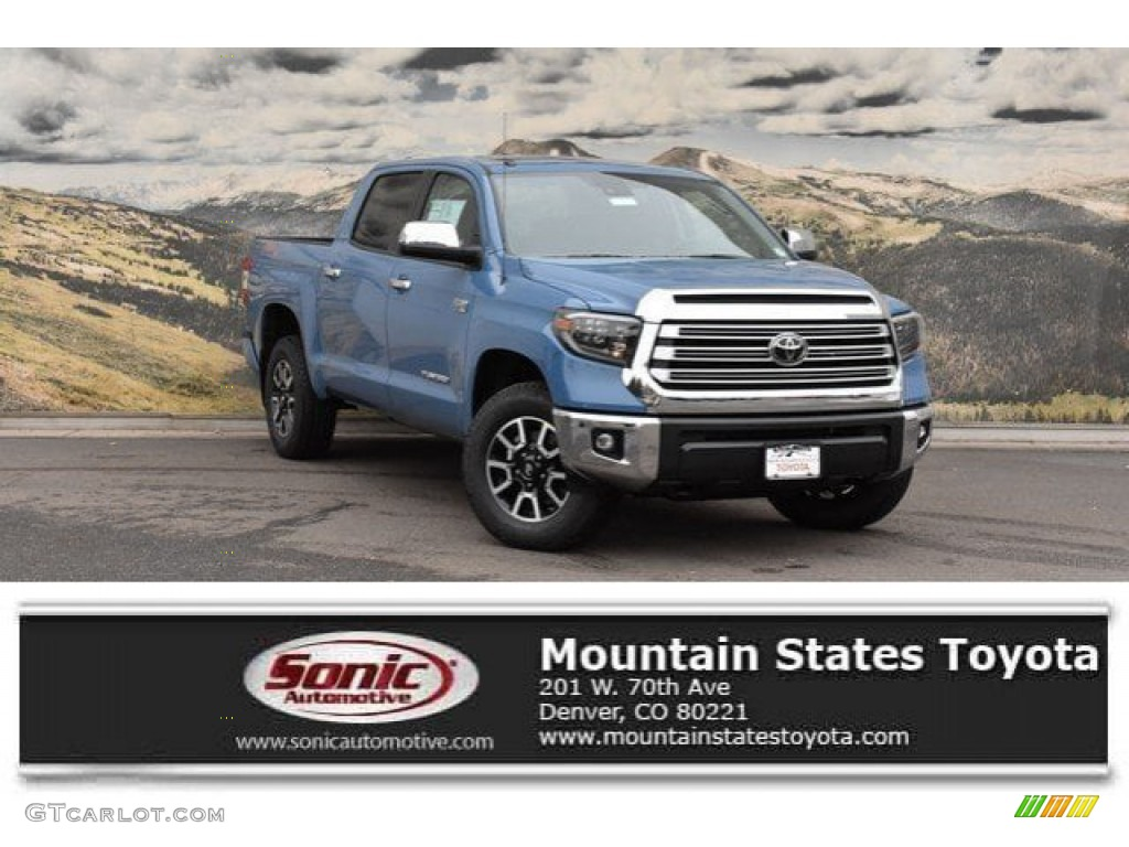 2019 Tundra Limited CrewMax 4x4 - Cavalry Blue / Black photo #1