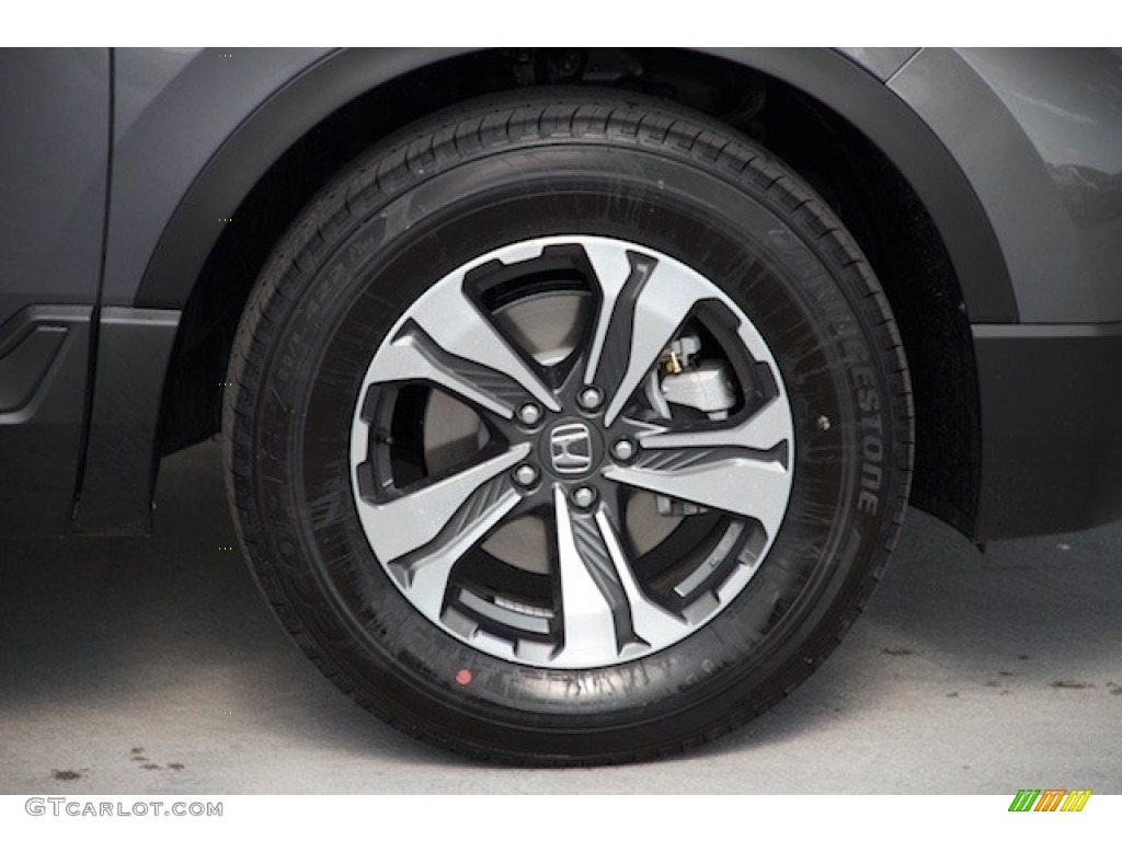 2019 CR-V LX - Modern Steel Metallic / Black photo #4