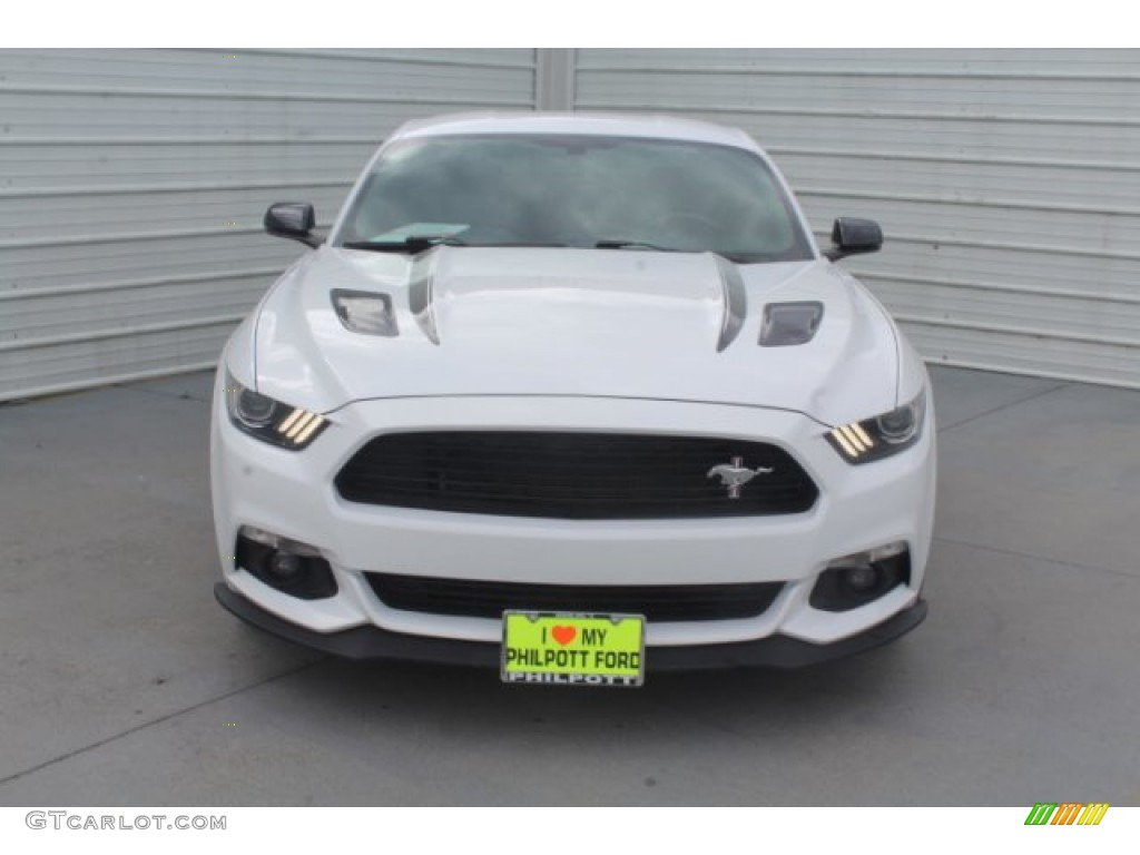 2016 Mustang GT Premium Coupe - Oxford White / California Special Ebony Black/Miko Suede photo #3