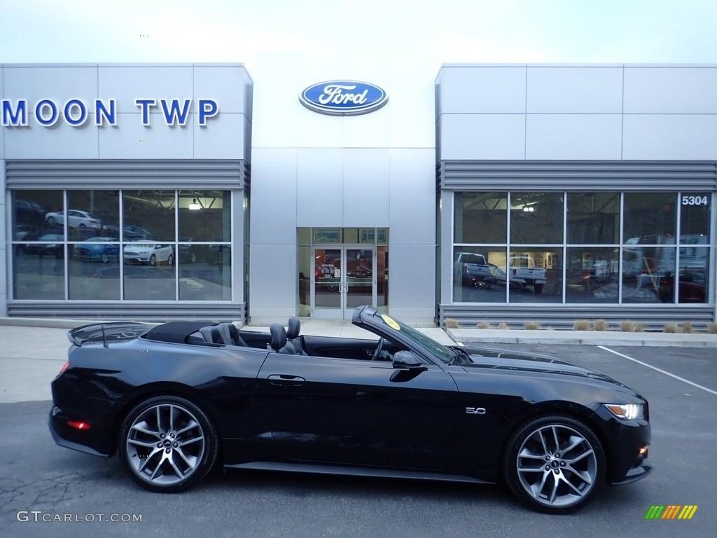 2017 Mustang GT Premium Convertible - Shadow Black / Ebony photo #1