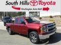2014 Deep Ruby Metallic Chevrolet Silverado 1500 WT Double Cab 4x4 #132128899
