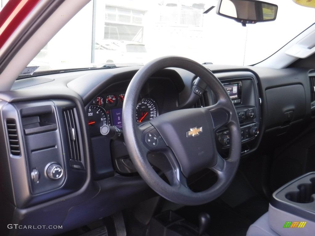 2014 Silverado 1500 WT Double Cab 4x4 - Deep Ruby Metallic / Jet Black/Dark Ash photo #12
