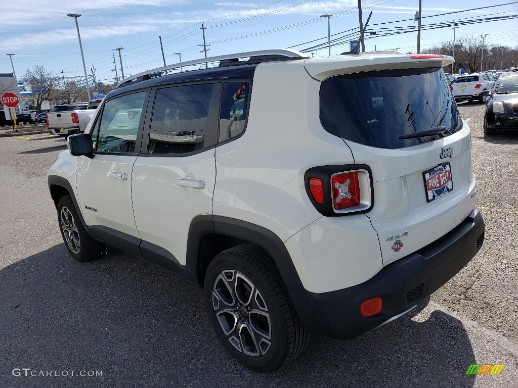 2016 Renegade Limited 4x4 - Alpine White / Black photo #2