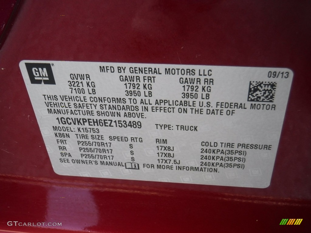 2014 Silverado 1500 WT Double Cab 4x4 - Deep Ruby Metallic / Jet Black/Dark Ash photo #25