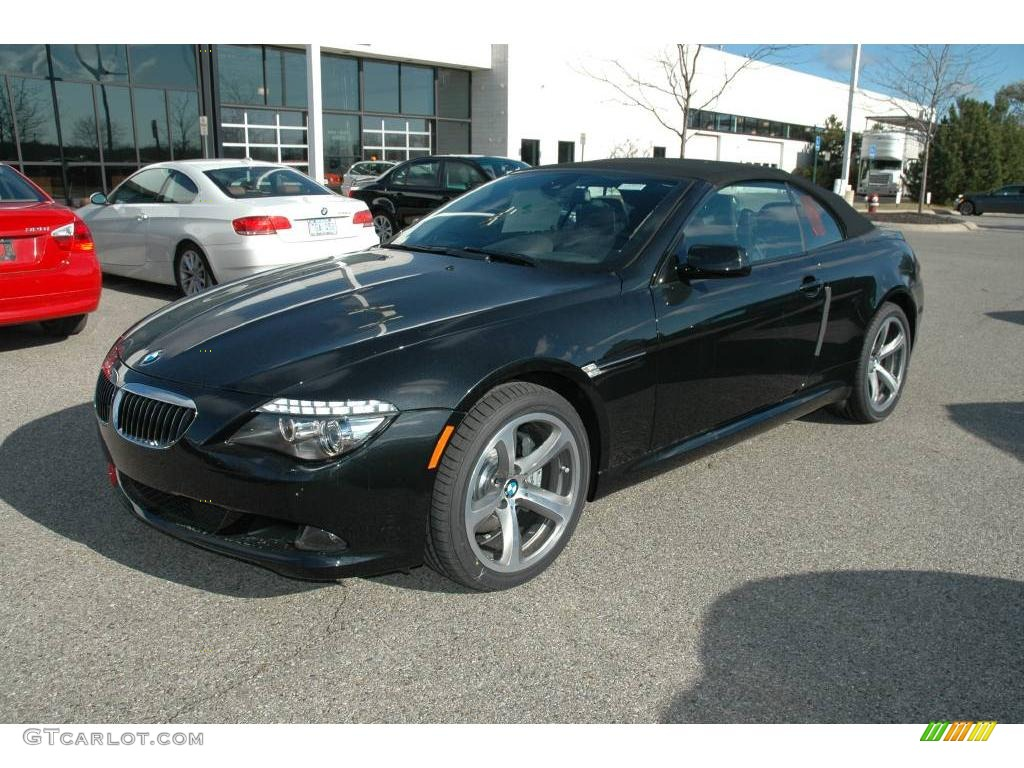 2009 black sapphire metallic bmw 6 series 650i convertible. Black Bedroom Furniture Sets. Home Design Ideas