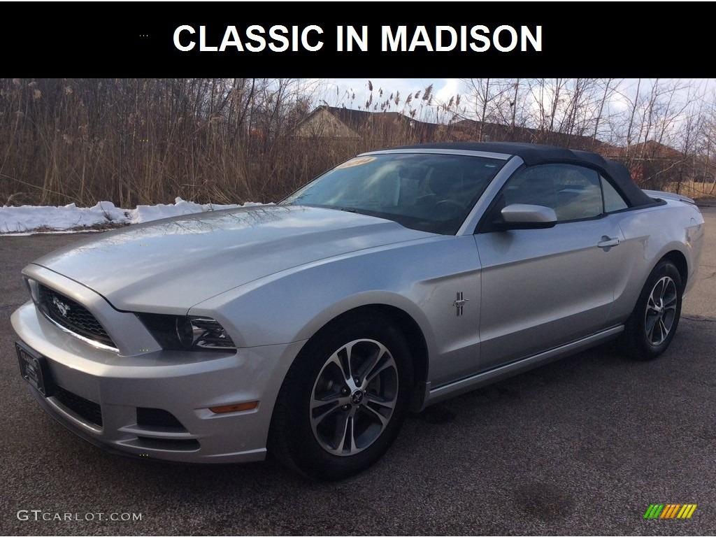 2014 Mustang V6 Premium Convertible - Ingot Silver / Charcoal Black photo #1
