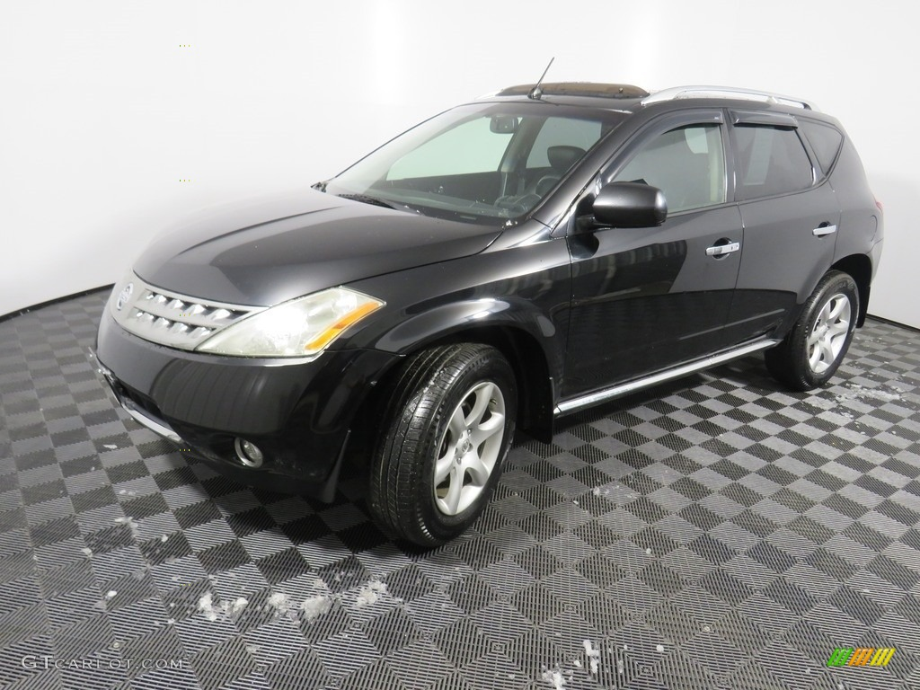2007 Murano SE AWD - Super Black / Charcoal photo #10