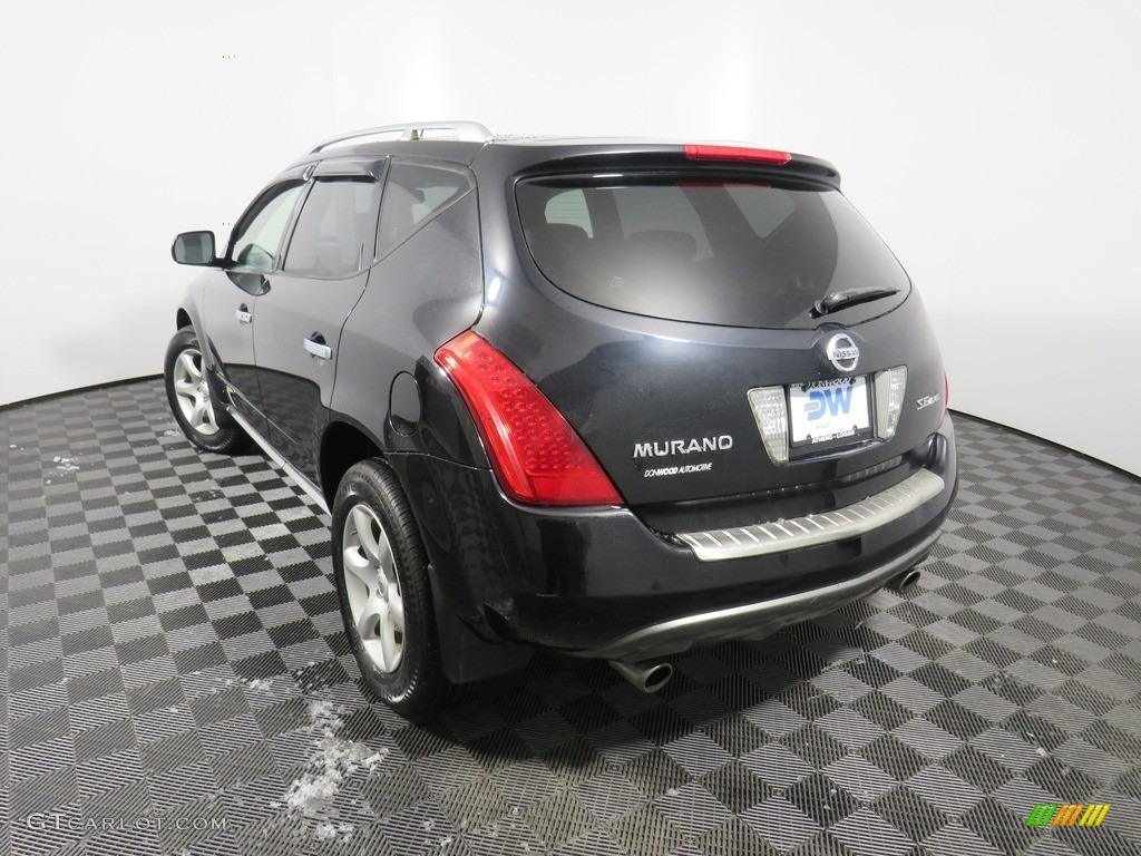 2007 Murano SE AWD - Super Black / Charcoal photo #14